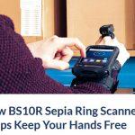 Nuevo Lector BS10R Sepia Ring Scanner ayuda a mantener sus manos libres