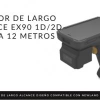 Lector de largo alcance EX90 1D/2D hasta 12 metros de distancia